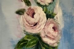FT-008 Roses rosé - acryl on premium canvas