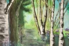 FO-001 Birch forest on premium canvas