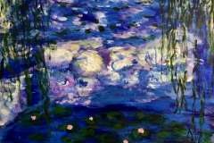 EXHIBITED CM-001 WaterLilies blue - acryl on premium canvas