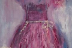 LA-007 Pink Dress - acryl on premium canvas