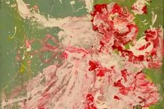 LA-001 Dress + Flowers  - acryl on premium canvas